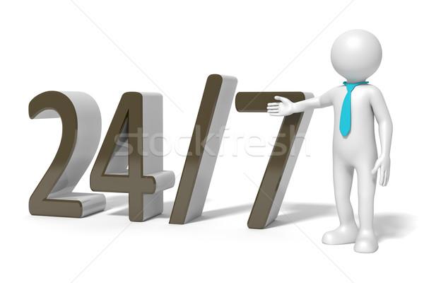24 hizmet görüntü 7 gün iş el Stok fotoğraf © magann