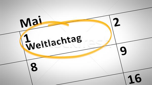 Foto stock: Mundo · riso · dia · primeiro · linguagem · calendário