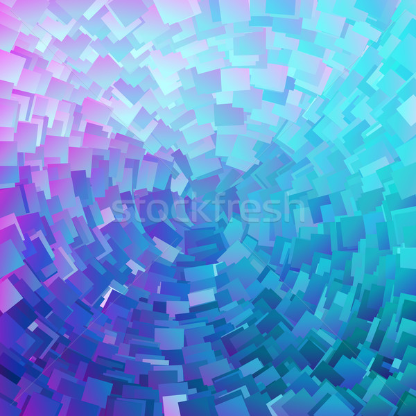 circular pink and turquoise background Stock photo © magann