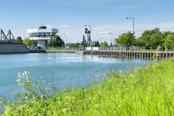 floodgate at Iffezheim Stock photo © magann