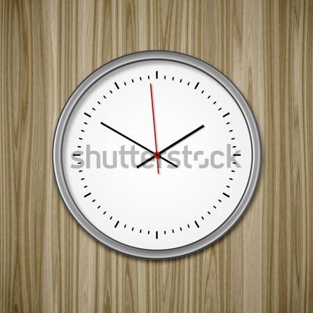 clock on wood Stock photo © magann