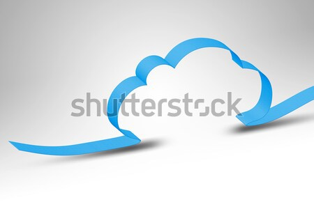 Stock foto: Cloud · Computing · blau · Band · Himmel · Internet
