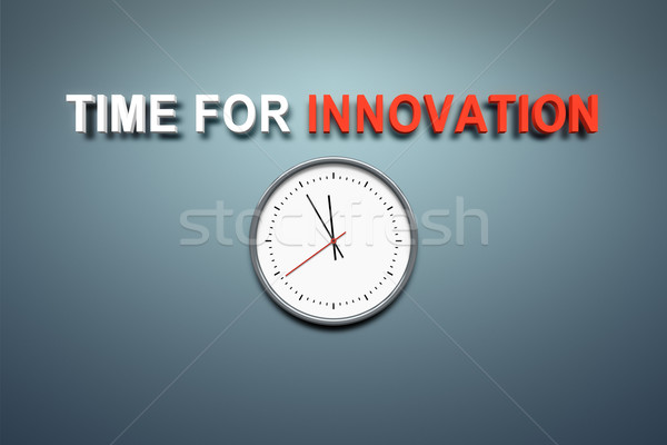 Time for innovation at the wall Stock photo © magann