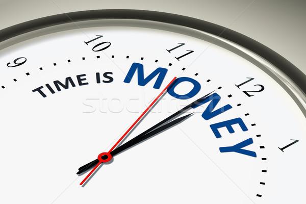 óra az idő pénz kép szép kéz terv Stock fotó © magann
