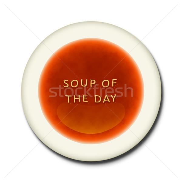 алфавит суп слов день оранжевый письме Сток-фото © magann