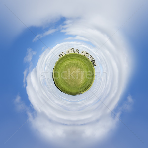 tiny planet Stonehenge Stock photo © magann