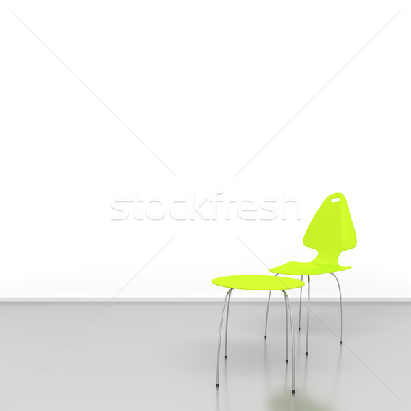 green chair and table Stock photo © magann