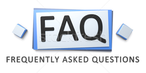 frequently asked questions sign Stock photo © magann