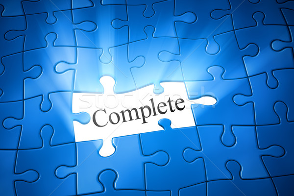 jigsaw puzzle complete Stock photo © magann