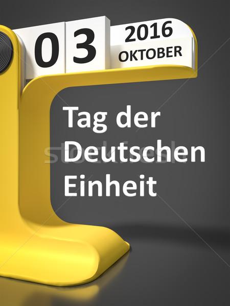 vintage calendar Day of German unity Stock photo © magann