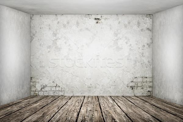 Oude lege kamer inhoud illustratie textuur gebouw Stockfoto © magann