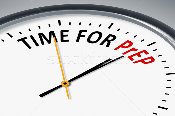 clock with text time for PrEP Stock photo © magann