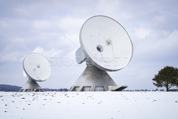 two satellite dishes in Bavaria Germany Stock photo © magann