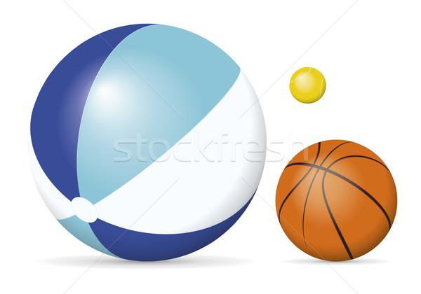 Ball Bild Beachball Tennisball legen Basketball Stock foto © magann
