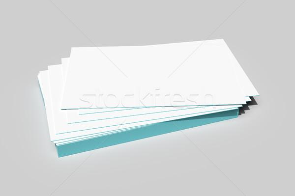 Batch Visitenkarten 3D Rendering Business Papier Stock foto © magann