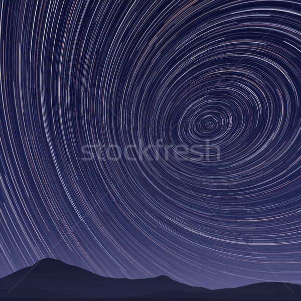 star trails night Stock photo © magann