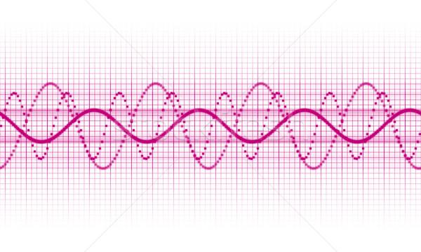 Stock fotó: Hanghullám · rózsaszín · fehér · textúra · űr · hullám
