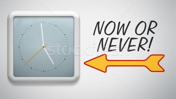 clock at the wall Stock photo © magann