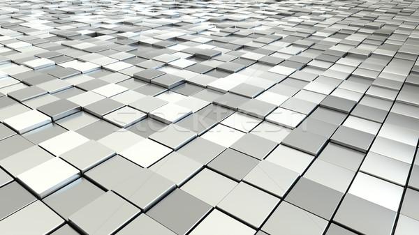 silver metallic cubes Stock photo © magann