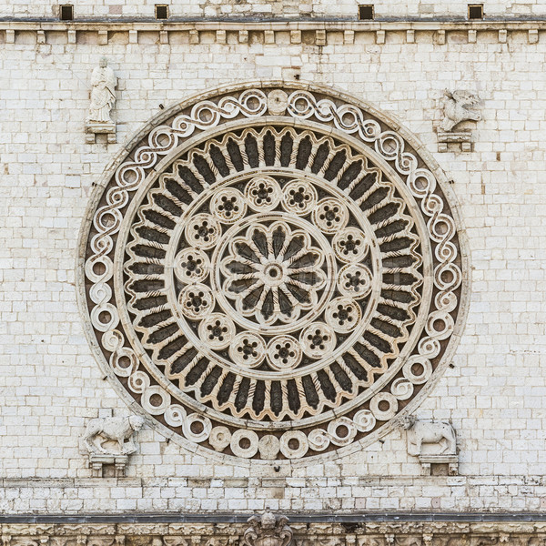 window rose from Assisi Stock photo © magann