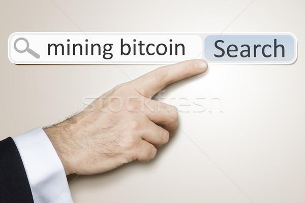Teia pesquisar mineração bitcoin imagem homem Foto stock © magann