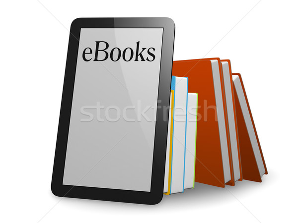 Agradable ebook normal libros papel verde Foto stock © magann