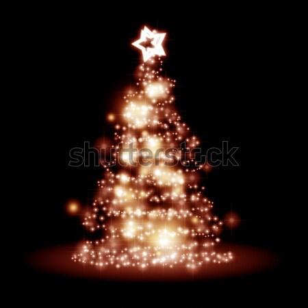 Stok fotoğraf: Kırmızı · Noel · görüntü · güzel · noel · ağacı · ışık
