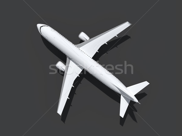 Stock photo: plane at the ground