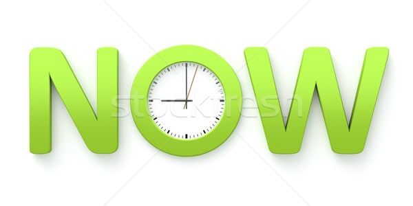 clock now Stock photo © magann
