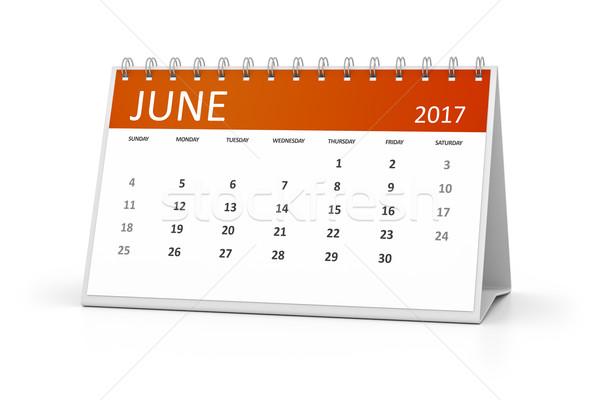 table calendar 2017 Stock photo © magann