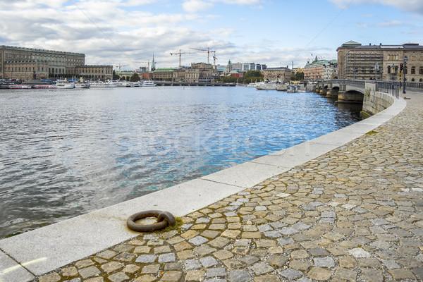 Piękna Cityscape Sztokholm Szwecja obraz niebo Zdjęcia stock © magann