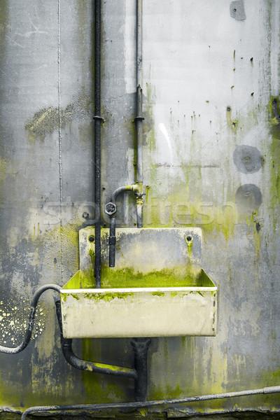 Rozsdás acél csap víz kép textúra Stock fotó © magann