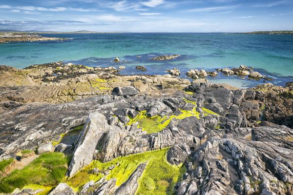 Ocean Irlandia nice widoku niebo chmury Zdjęcia stock © magann