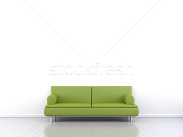 Chambre canapé 3D espace design Photo stock © magann