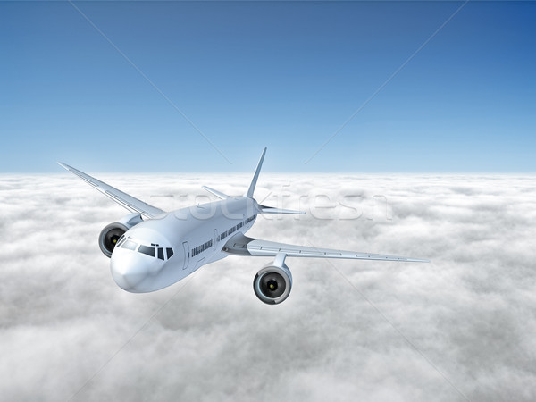 airplane above clouds Stock photo © magann
