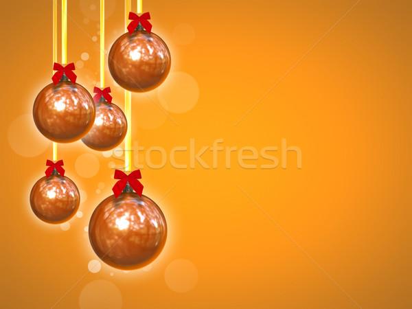 Сток-фото: красный · Рождества · изображение · Nice · оранжевый · фото