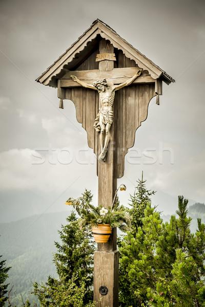 jesus cross herzogstand Stock photo © magann