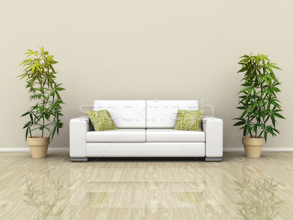 Sofa with plants Stock photo © magann