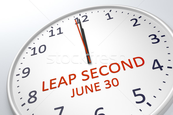 a clock showing leap second at june 30 Stock photo © magann