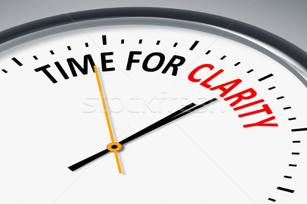 clock with text time for clarity Stock photo © magann