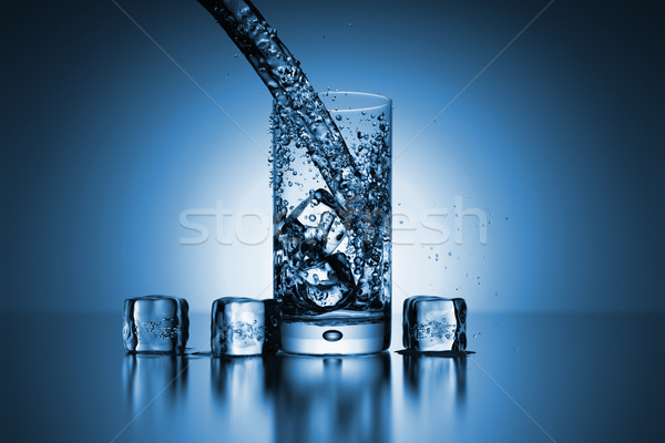 backlit glass of water Stock photo © magann