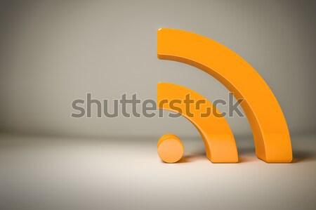 Rss signe espace propre contenu affaires Photo stock © magann