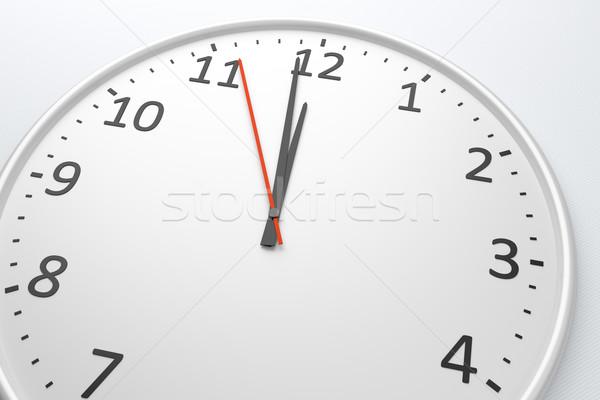 Clock at noon Stock photo © magann