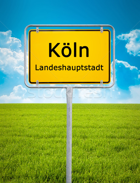 city sign of Köln Stock photo © magann