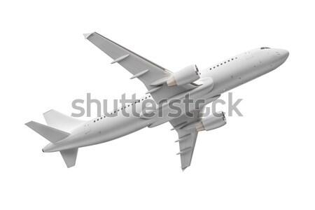 самолет изолированный белый изображение технологий путешествия Сток-фото © magann