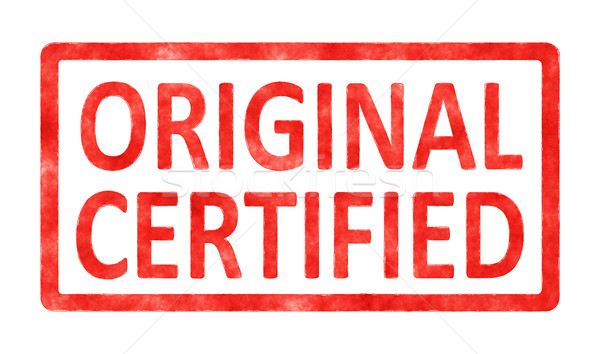 Tampon originale certifié image texte blanche Photo stock © magann