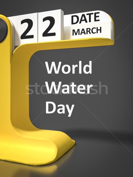 vintage calendar World Water day Stock photo © magann