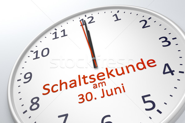 a clock showing leap second at june 30 in german language Stock photo © magann