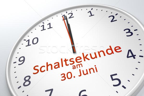 Relógio salto segundo 30 linguagem Foto stock © magann