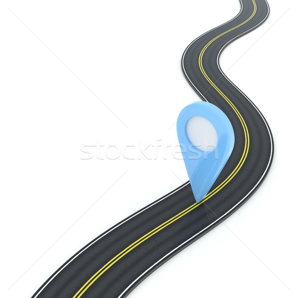 a winding road with point of interest Stock photo © magann